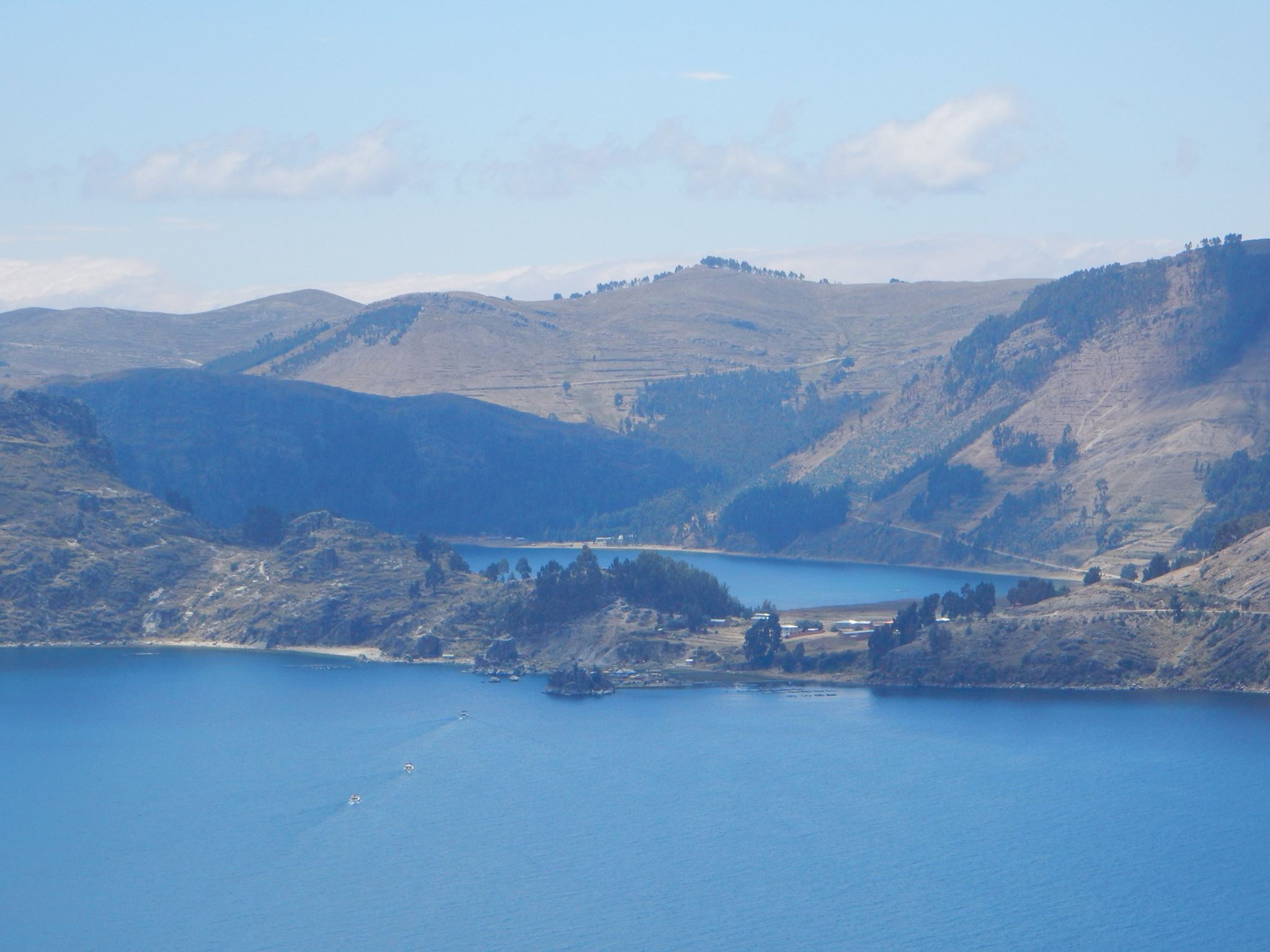 Views of Lake Titicaca from the hill climb