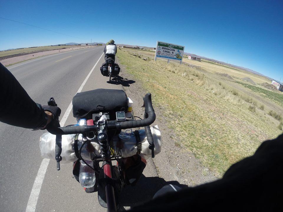 Shima and I heading towards Puno