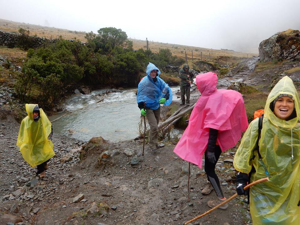 making our way through the rain