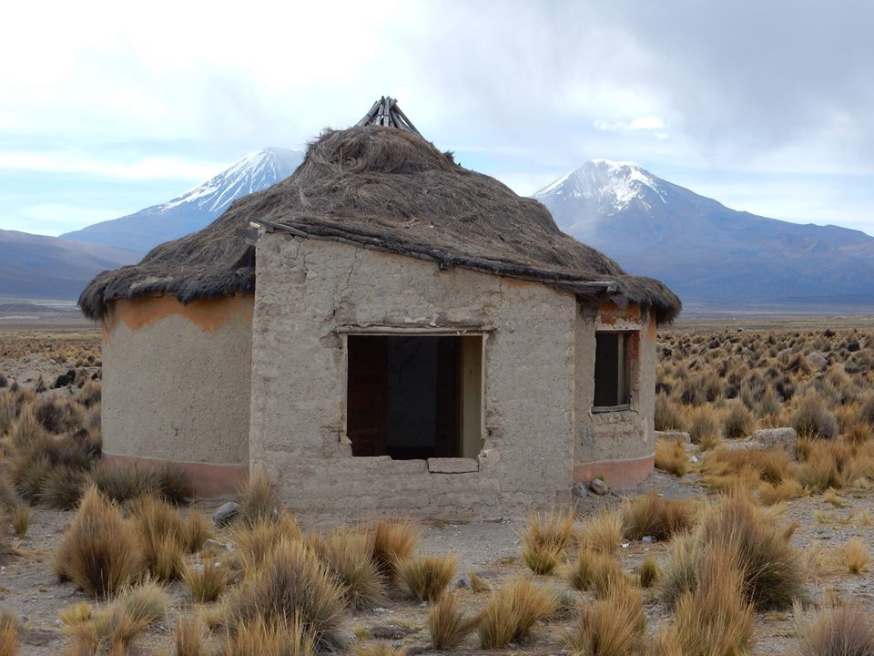 An old abandoned mud brick house